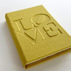 LOVE, hand-made notebook, journal. Find out more here: www.etsy.com/shop/TandemDesignsShop #notebook #handmade