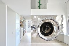 Mirror tube for sliding #interior #artistic #penthouse #apartment #fun