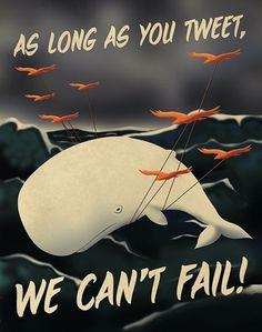 Social Media Propaganda Posters | PIKTED #illustration #bird #propaganda #twitter #fail #social #network #tweet #wal