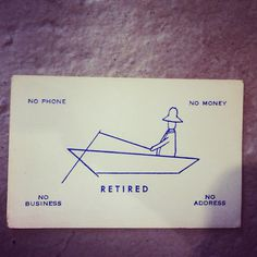 Retired #business card #retired
