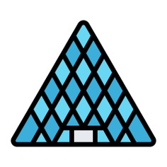 See more icon inspiration related to museum, pyramid, Louvre Museum, architecture, louvre, france, paris, buildings, monuments, building and construction on Flaticon.