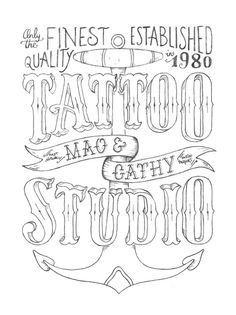 (WIP) Sketching a hand–painted sign for a tattoo studio