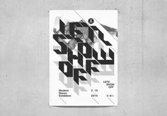 Letz Show Off : Dance Exhibition Poster #print #poster #typography