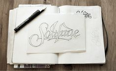 Solitude - The Revival on the Behance Network #sketching #type #identity #treatment #music #logo #band #typography