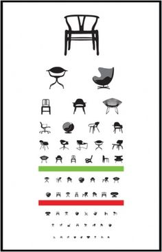 eye exam | Blue Art Studio #creative #chairs #design #iconic #poster