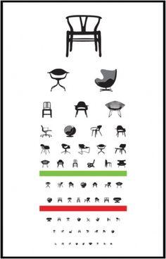eye exam   Blue Art Studio #creative #chairs #design #iconic #poster