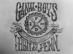 Canal_boys_full #handwritten #typography
