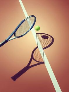 Sports and Surreal Shadows by Kelvin Murray Tennis #photography #illusion #shadow