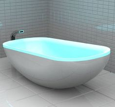 Jay Mug — Glowing bathtub changes color to the beats of... #interior #design