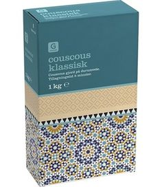 This beautiful packaging inspired by tile patterns-Couscous klassisk #packaging #clarendon