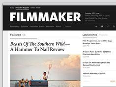 filmmaker website / slides — Design Portfolio Archive — AREA 17 #website #design #web