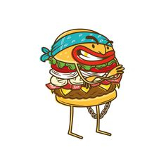 La Res on Behance #voltio #res #burger