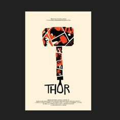 Olly Moss - THOR! I was commissioned by Craig Kyle and Kevin... #simple #movie #poster