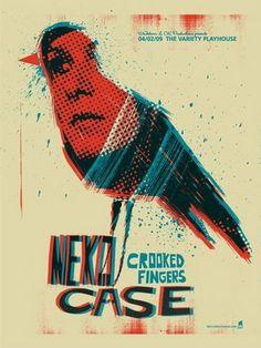 Neko Case Atlanta Concert Poster by Methane Studios - Methane Studios - Gallery #reed #case #neko #poster #blue