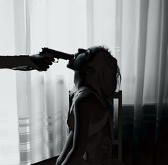 BLVK #white #woman #gun #black #and #man