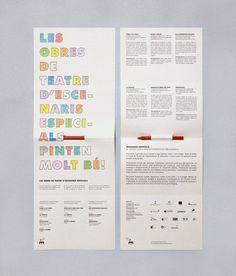 Escenaris especials —Enserio #brochure #paint #handmade #identity