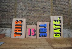 Creative Review A café with character(s) #stencil #type #bright #colour