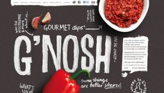 G\'nosh - Web design inspiration from siteInspire
