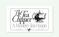The Tea Clipper #logo #b+w