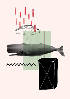 whale #illustration #collage #whale #wal #maria fischer