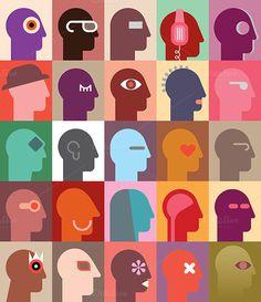 Human Heads #various #design #head #people #illustration #art