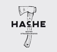 LA HACHE – IDENTITY #logo design #inspiration #identity