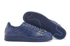 Adidas Originals Adidas Leather Men Blue