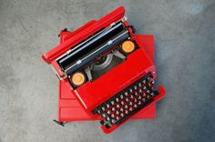 All Things Stylish #red #typewriter