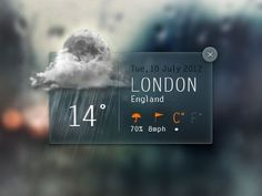 Dribbble - Weather Widget by Angelo Semeraro #app #weather