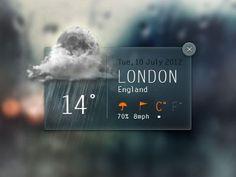 Dribbble - Weather Widget by Angelo Semeraro #app #weather