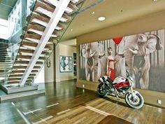 Lenny Kravitz Apartment #interior #design #architecture #bike
