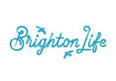 #typography #type #lettering #script #monoline #blue #brighton #birds #logo #brand #brandmark #branding #identity #ident #texture #italic #l