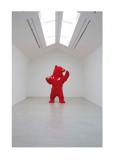 ASAP House #bear #sculpture #red #art