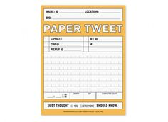 Paper Tweet - 140 Characters or Less by Knock Knock #print #paper #tweet #humor