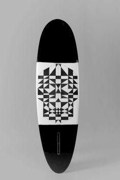 I'm A Ok MonoBrow #skull #surfboard #art