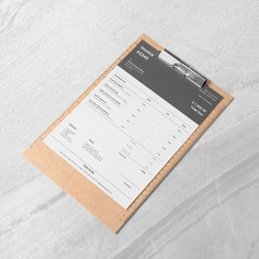 Bill Template Black Invoice Stylish Invoice Blank | Etsy