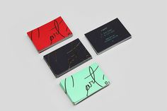 Carté Business Cards #red #business #branding #color #black #gold #cards #foil #green