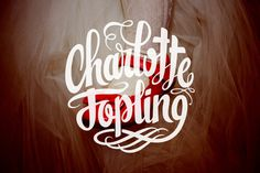 Charlotte Jopling – Photography #personal #lettering #type #brand #custom #logo #hand