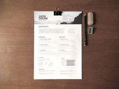 Biography Resume - Simple Free Resume Template