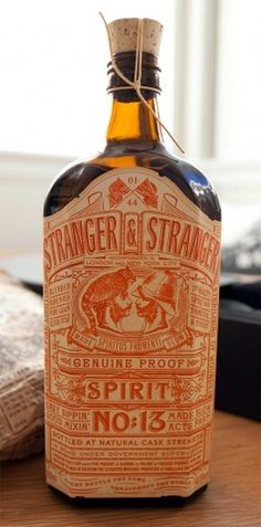Stranger & Stranger: Spirit No. 13 (NOTCOT) #design #graphic #awesome #bottle