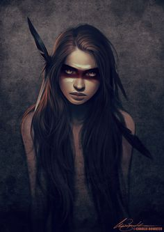 Howl by Charlie Bowater on deviantART #charlie #girl #tribal #bowater #portrait