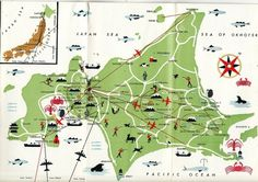All sizes | Map of Hokkaido | Flickr - Photo Sharing! #japan #maps #vintage