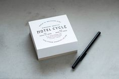 Logotype and notepad designed by UMA for U2's Onomichi based Hotel Cycle #logo #print #paper #branding