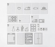 Jared Erickson | Because I Can #line #white #branding #infographic #black #food #kitchen #identity