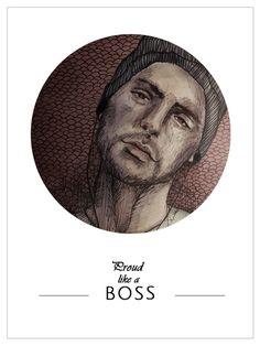 Illustration #boy #boss #guy #man #drawing