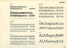 Daily Type Specimen | Onyx and Palatino, another odd pairing resulting... #typography