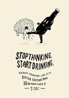 Stop Thinking – Illustration