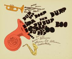 BIG BAD BRASS A lot of loud for you to look at – Ryan Crane #tuba #sepia #illustration #horns #vintage #music