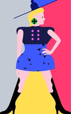 #london #lfw #illustration #pattern #design #people #advertising #michaelarnold #editorial #vector