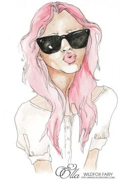 Inspiration for artists from Wildfox Couture - I LOVE WILDFOX #wildfox #ella #illustration #painting #fashion #watercolour